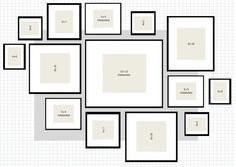 gallery wall with different frames - Google Search
