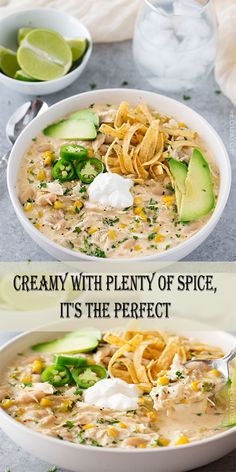 CREAMY CROCKPOT WHITE CHICKEN CHILI