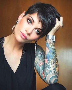Women Hairstyles Braids Hot-Black-Pixie-Hair Sweet and Sexy Pixie Hairstyles for Women.Women Hairstyles Braids Hot-Black-Pixie-Hair Sweet and Sexy Pixie Hairstyles for Women Short Pixie Haircuts, Short Hairstyles For Women, Hairstyles Haircuts, Haircut Short, Pixie Haircut Styles, Short Pixie Cuts, Poxie Haircut, Women Pixie Haircut, Funky Hairstyles