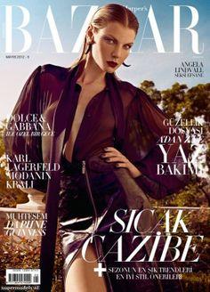 Model: Angela Lindvall   Photographer: Koray Birand - for Harper's Bazaar Turkiye, May 2012