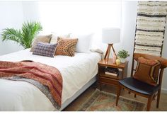 Bedroom (boho, mid century modern, eclectic)