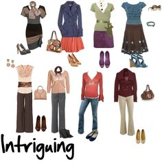 """""""Intriuging"""" by imogenl on Polyvore """"Warm, Smoky (greyed, so slightly less warm), Light (cool equivalent is Serene)"""" — xaraxia"""