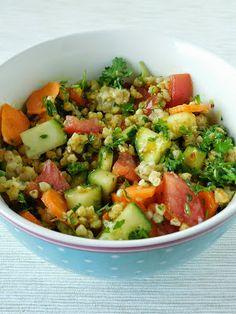 Mis recetas Bio: Ensalada de trigo sarraceno al estilo mediterráneo.