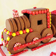 chocolate gingerbread train...yum