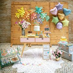 Esplêndida festa no tema Primavera! 30th Party, Birthday Party Decorations, Birthday Parties, Baby Shower Deco, Baby Showers, Pastel Party, Birthday Box, Ideas Para Fiestas, Fiesta Party