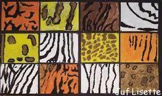 Maak de huid van een wild dier in een uitvergroting! Art Activities For Kids, Art For Kids, Painting For Kids, Scary Animals, Zoo Animals, African Safari, African Art, Paws And Claws, Art Textile