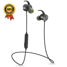 [2017 New Design ] Pkman™ Magnetic Bluetooth Headset, Wireless Bluetooth Earbuds/Earphones/ Headphones with Mic, CVC6.0 Noise Cancelling, Secure Fit for Sports [ Running / Gym / Sweatproof ]. 【Bluetooth 4.1】 : Combine with CVC 6.0 technical Noise Reduction technology, Ensure Hi-Fi Stereo Sound quality (super bass,middle and high pitch)and Strong Signal. 【Built-in Magnets Design】: Humanized design,You can attach the two headphones together without using,and wear them like a necklace around...