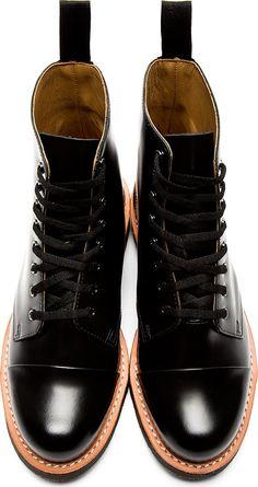 Dr. Martens Black Leather 8-Eye Charlton Boots