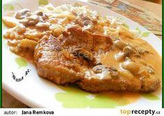 Bakoňské kotlety recept - TopRecepty.cz No Salt Recipes, Cooking Recipes, French Toast, Pork, Food And Drink, Treats, Chicken, Breakfast, Kfc