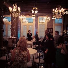Gotta love chandeliers!  Butler's Courtyard in Houston is so quaint and beautiful!