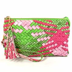 """Pretty Wristlet"" SALE EVENT Limited Edition SHOP: https://pinkmeadow.com/product-category/accessories/handbag/"