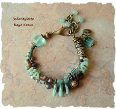 Hey, I found this really awesome Etsy listing at https://www.etsy.com/listing/478191033/boho-bracelet-rustic-beaded-bracelet