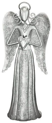Regal Art and Gift Angel Decor Heart *** See this great product. Angel Decor, Angel Art, Metal Embossing, Guardian Angels, Metal Art, Garden Art, Making Ideas, Sculptures, Angeles