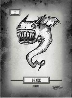 Magic The Gathering Cards, Mtg, Drake