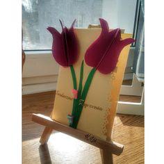 Po prostu K.Lis: Kartka z tulipanami 🌷