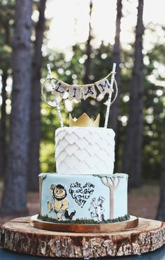 Where the Wild Things Are book themed baby shower or birthday cake Wild One Birthday Party, Boy First Birthday, Birthday Bash, First Birthday Parties, Birthday Party Themes, First Birthdays, Birthday Ideas, Bebe Shower, Party Time