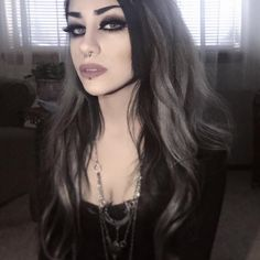 Your soul is haunting me And telling me That everything is fine But I wish I… Gothic Girls, Hot Goth Girls, Goth Beauty, Dark Beauty, Gothic Culture, Gothic Looks, Gothic Aesthetic, Gothic Models, Goth Women