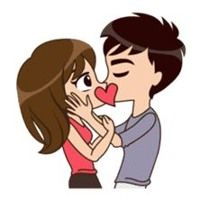 funny, lovely couple sticker for those who in love Love Cartoon Couple, Cute Cartoon Pictures, Cute Love Couple, Cute Love Stories, Cute Love Gif, Cute Love Pictures, Valentine Songs, Desenhos Love, Love You Gif