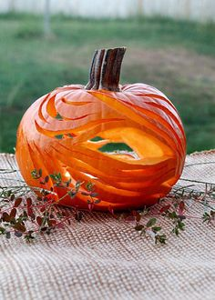 How cool is this abstract pumpkin?