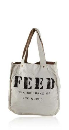 so, all you have to do is buy the bag and ONE child in Africa gets school lunch for a year.