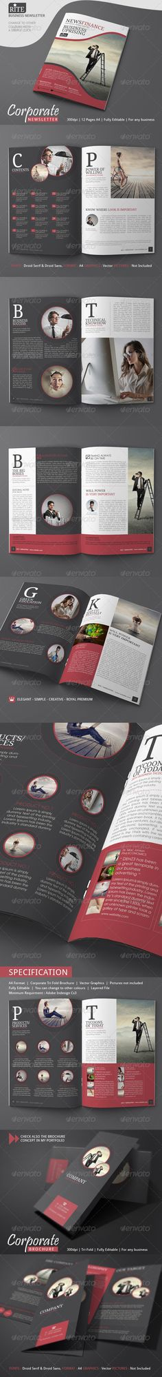 Newsletter Template (4 Pages u2013 Adjustable) Newsletter templates - employee newsletter template