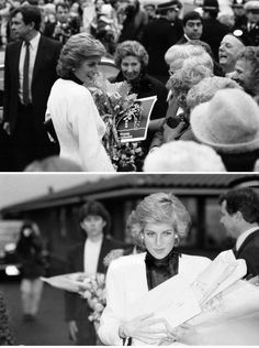 Princess Diana, arrives to officially open Acorns Children's Hospice, only the 3rd Children's hospice in the World, 14th December 1988.