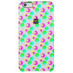 Colorful Circles and rectangles design Clear iPhone 6 Plus Case