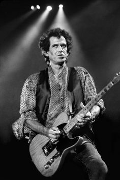 Keith Richards - The Rolling Stones (NY 1994), by Robert Salandro