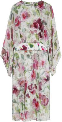 ShopStyle: Dolce & Gabbana Wild Roses Silk Dress