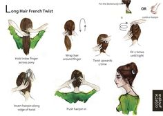 Long Hair French Twist