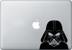 """Vinilo decorativo, stickers, pegatina """"Darth Vader"""" para MacBook"""