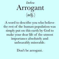 forthwrite arrogance define