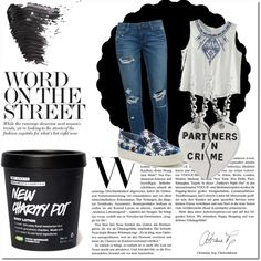 Crime by ollena on Polyvore featuring moda, Paige Denim, Juicy Couture and Topshop