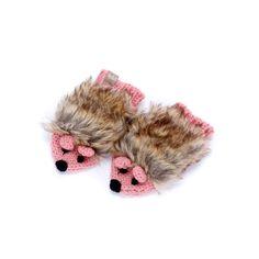 Peppercorn Kids Hedgehog Mittens Pink