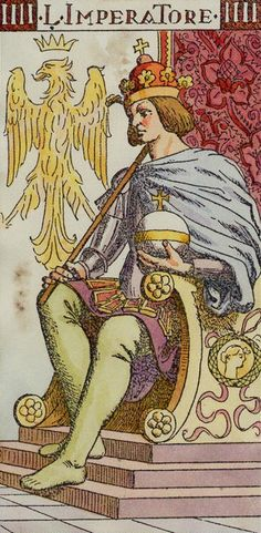 IV. The Emperor - Tarot of the Master by  Giovanni Vacchetta
