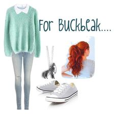"""""""For Buckbeak..."""" by dilettante98 ❤ liked on Polyvore featuring Carven, rag & bone, Chicwish and Converse"""