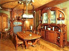 Art Nouveau dining room.