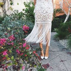 Felt like spring in L.A. so this lace number was perfect. www.liketk.it/S4Ck #liketkit