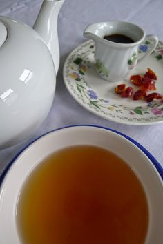 Rose Hip Tea and Syrup Recipes lessnoise-moregreen.com