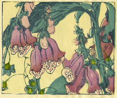 """bigink: """" art-and-things-of-beauty: """" Color woodcuts of flowers by Mabel Royds (1874-1941). """" Someone who saw flowers differently. """""""