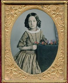 Papa's treasure: simple and sweet. This daguerreotype is super nice in every possible way. Vintage Children Photos, Vintage Girls, Vintage Pictures, Vintage Images, Photographs Of People, Vintage Photographs, Antique Photos, Old Photos, Time Pictures
