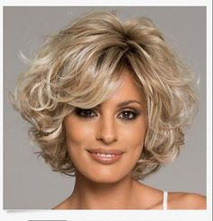 Stunning Mix Blonde Synthetic Curly Short Women Wig Hair H1A1 #Unbranded