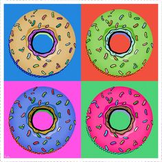 Andy Warhol and Pop Art. Exploring Artists – Art lessons for Children Andy Warhol Pop Art, Kindergarten Art Projects, Classroom Art Projects, Retro Kunst, Retro Art, Pop Art Food, Pop Art For Kids, Pop Art Images, 4th Grade Art