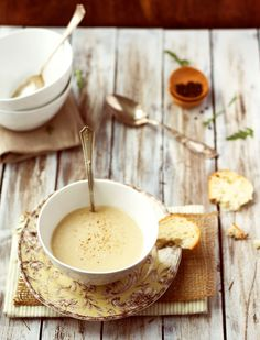 [ Recipe: Apple Parsnip Soup ] Using butter, sweet onion, potato, apples, parsnips, chicken broth, allspice, nutmeg, cream (half and half or heavy), and salt/pepper to taste. ~ from foodess.com