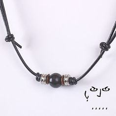 VujuWear Black Horn Bead Men's Leather Necklace ~~~ SHOP NOW FOR 30% OFF OUR ENTIRE COLLECTION. USE CODE VUJUPN30. ~ VujuWear
