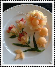 Cantaloup Strawberries Platter