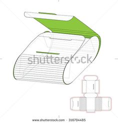 Cosmetics Retail Box With Die Line Template Stock Vector Illustration 316704485 : Shutterstock Packaging Dielines, Box Packaging, Cardboard Paper, Paper Toys, Origami And Quilling, Oragami, Wooden Purse, Paper Box Template, Cnc Cutting Design