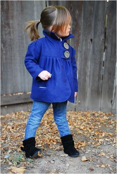 Top 10 Cool Sewing Patterns For Kids Clothes (love the blue wool coat!)