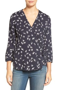 Hinge Hinge Print Wrap Top available at #Nordstrom
