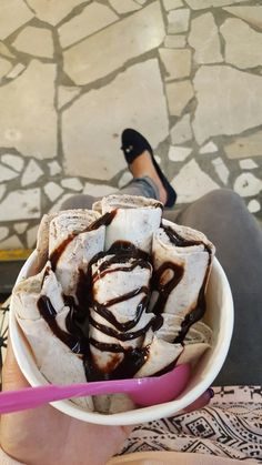 roll ice cream vanila oreo #firstpost